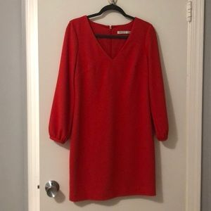 Long sleeve orange Trina Turk dress